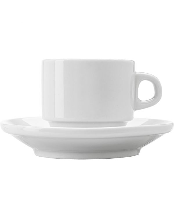 Stackable Porcelain Cup And Saucer