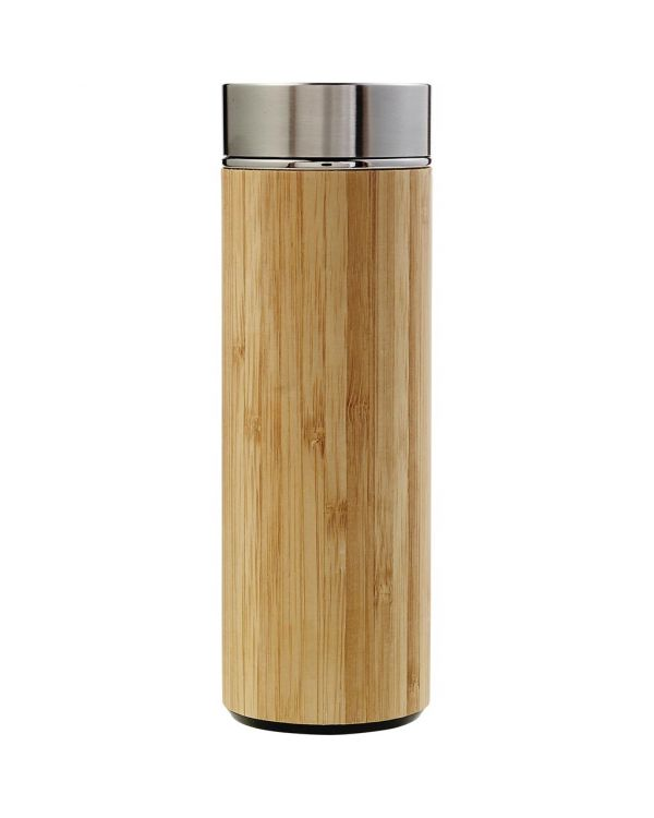Bamboo Vacuum Bottle With Tea Infuser 420ml