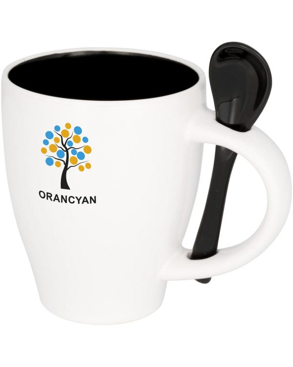 Nadu 250 ml Ceramic Mug With Spoon