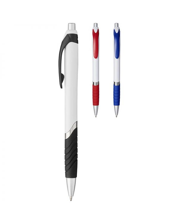 Turbo Ballpoint Pen With White Barrel