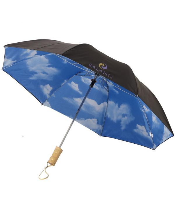 "Blue-Skies 21"" Foldable Auto Open Umbrella"