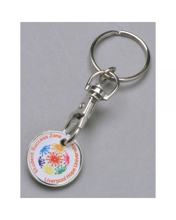 Printed trolley coin keyring