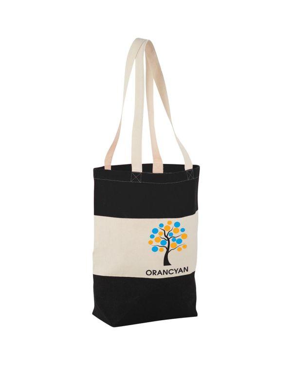Colour-Block 227 G/M Cotton Tote Bag