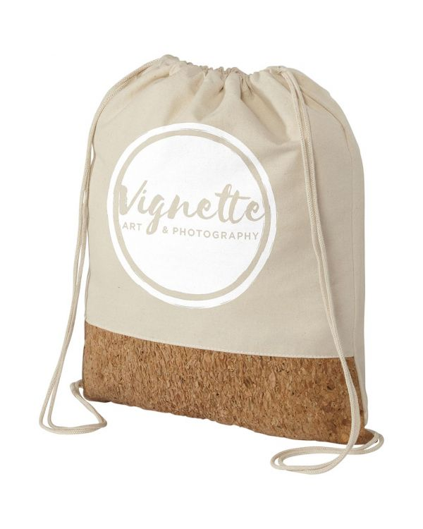 Woods 150 g/sq m Cotton And Cork Drawstring Backpack
