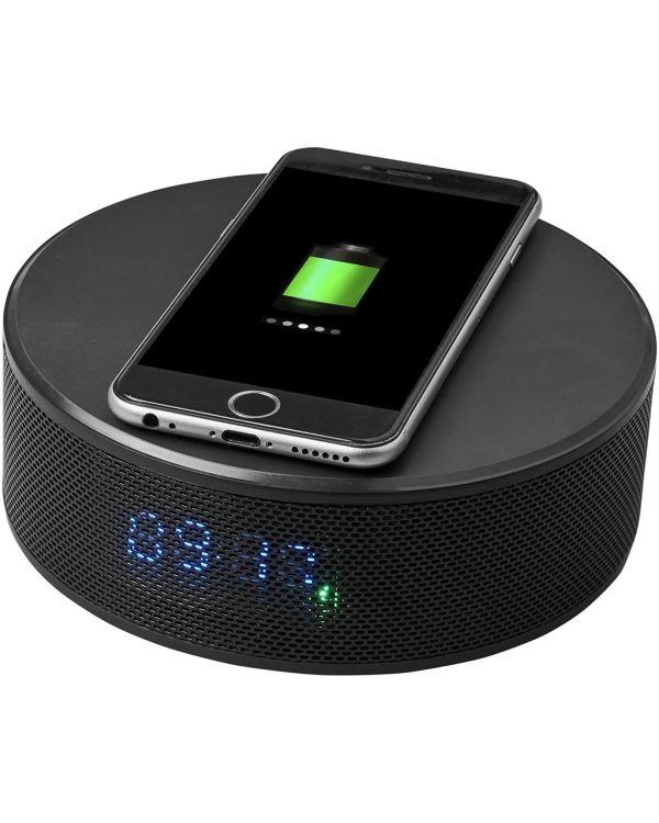 Circle Wireless Charging Alarm Clock Speaker