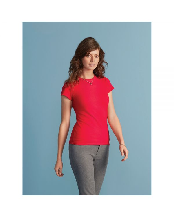 Gildan Ladies Softstyle V Neck T-Shirt