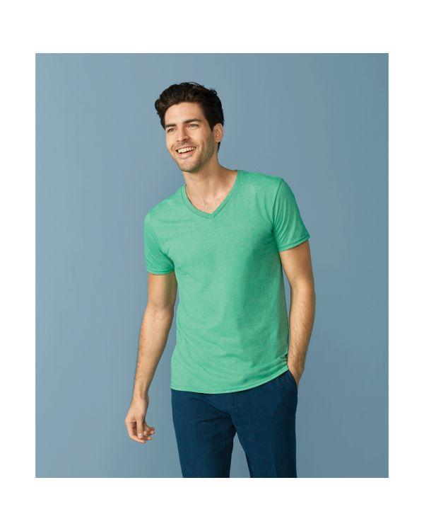 Gildan Mens Softstyle V Neck T-Shirt