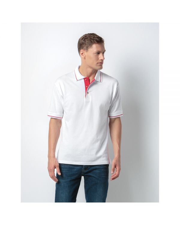 St Mellion Tipped Collar Cotton Polo