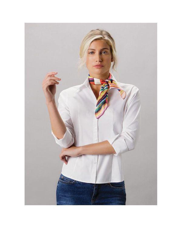 Ladies 3/4 Sleeve Oxford Shirt