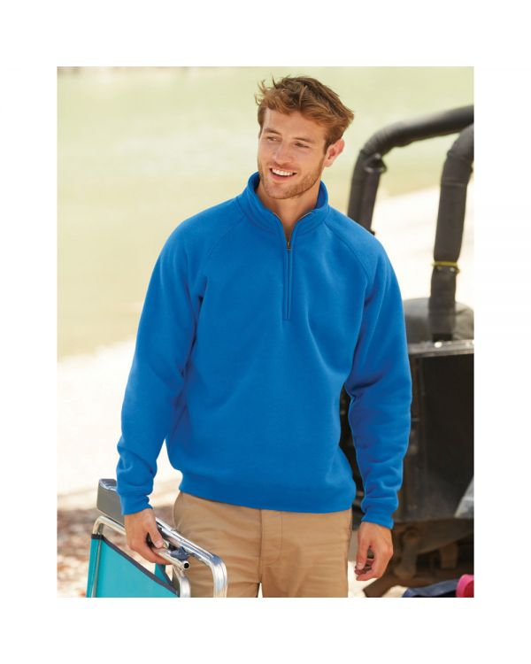 Mens Premium Zip Neck Sweat