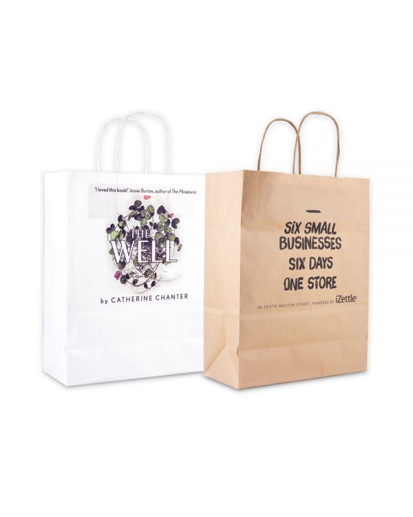 Green & Good A4 Kraft Paper Bag Full Colour - Sustainable Paper Digital