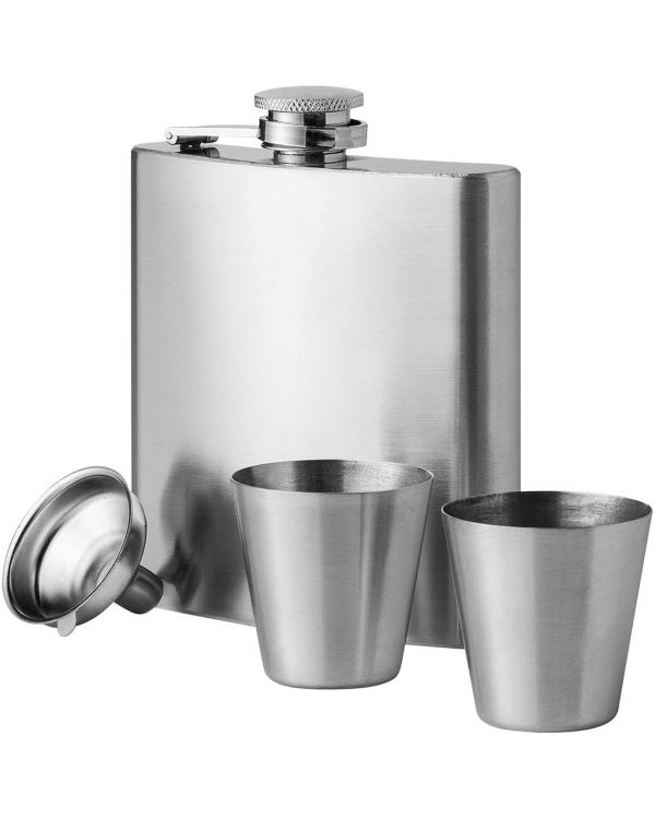 Texas 175 ml Hip Flask With Two Shot Tumblers