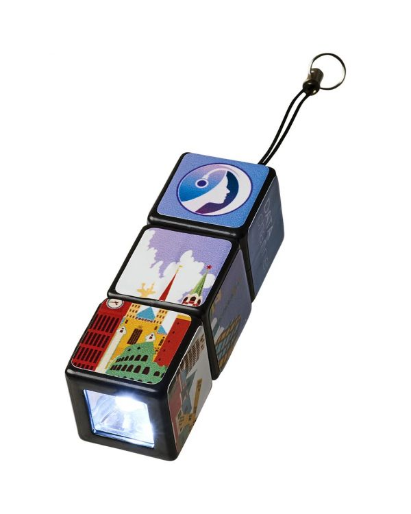 Rubik'S Led Flashlight With Key Loop