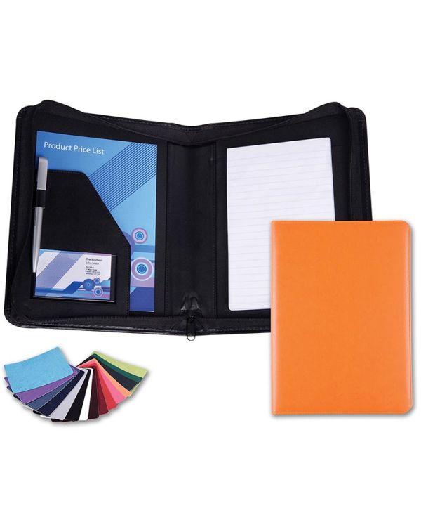 Vibrance A5 Zipped Conference Folder