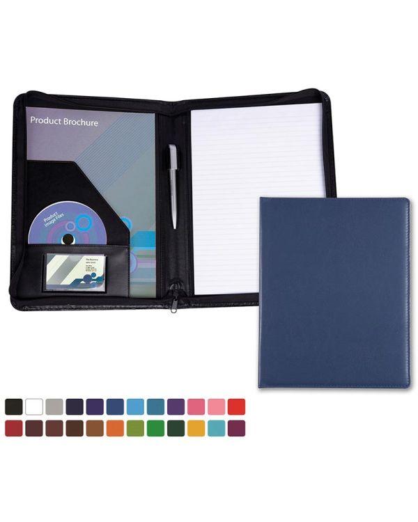 Vibrance A4 Zipped Conference Folder