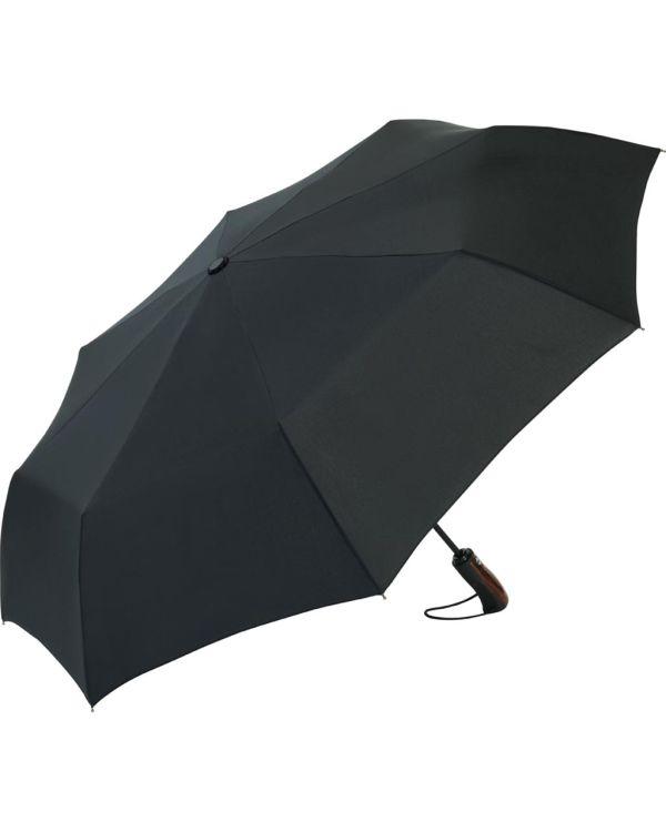 FARE Stormaster AOC Oversize Mini Umbrella With Wooden-Look Handle Insert