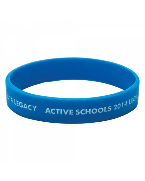 Silicone Wristband (Child: Recessed and Infilled Design)