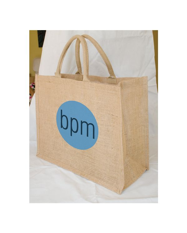 Oak Large Jute Shopper
