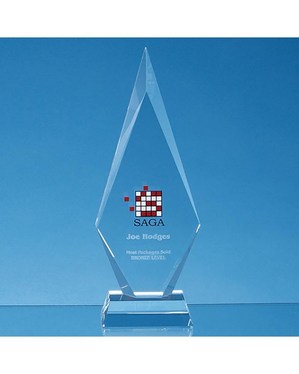 25.5cm Optical Crystal Kovel Peak Award