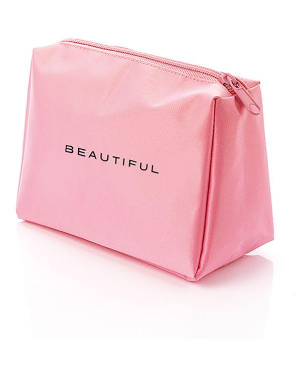 Pink Nylon Travel Bag