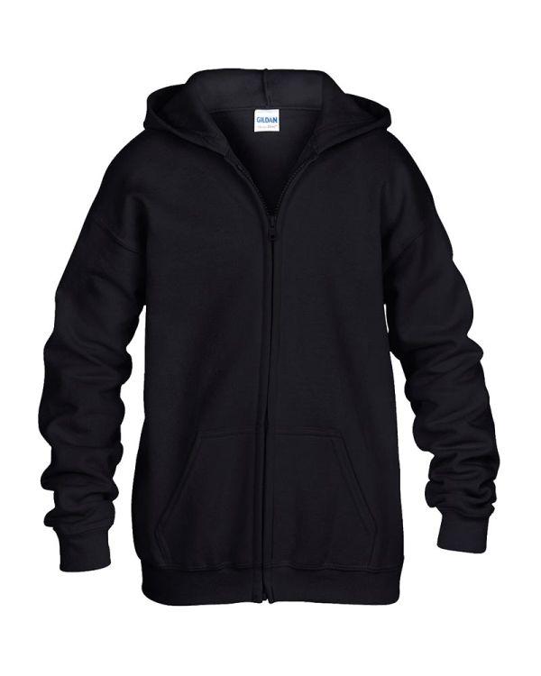 Kids Zip Hooded Sweatshirt