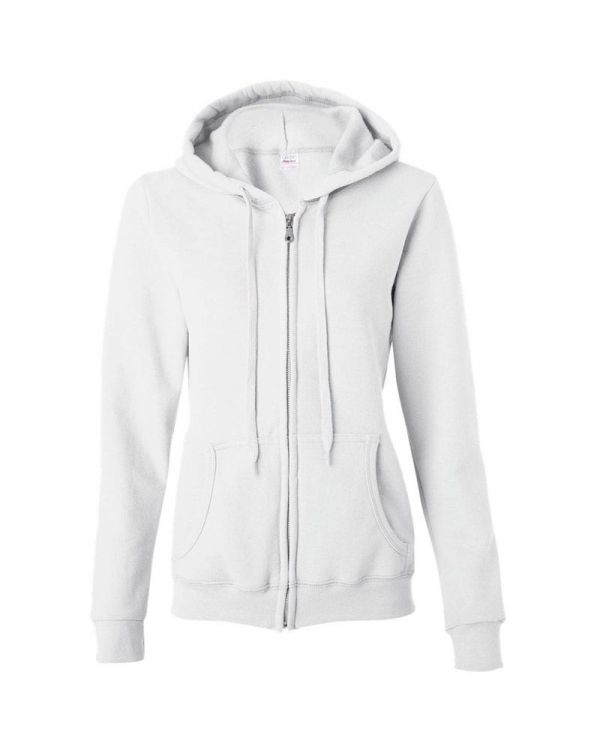 Ladies Zip Hooded Sweatshirt