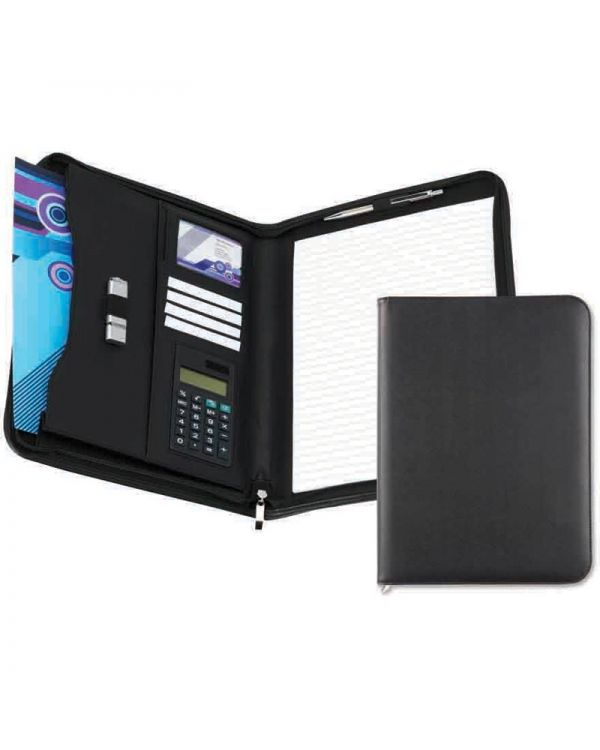 Bedford Zipped Conference Folder with Calculator