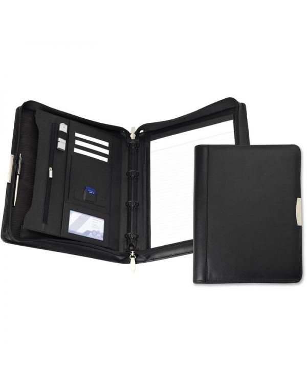 Executive Nappa Leather Deluxe A4 Zipped Ring Binder