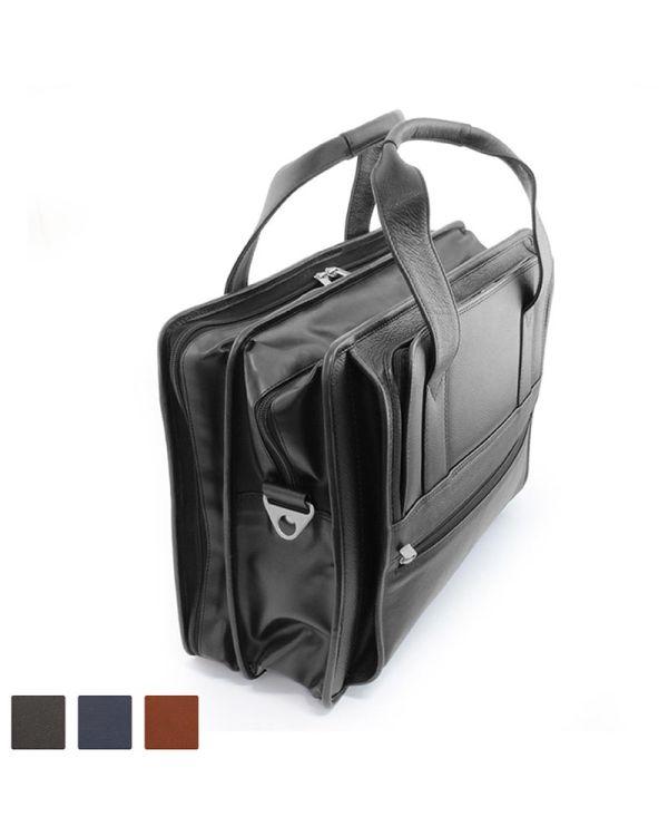 Sandringham Nappa Leather Carry On Flight Bag In Black