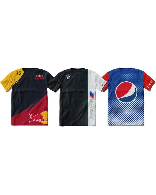 Custom Design Sports/Running T-Shirt/Top With Your Logo Printed Full Colour To Both Sides