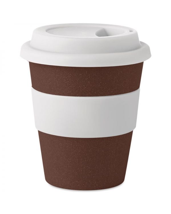 Brazil White Tumbler Coffee Husk/PP 350ml