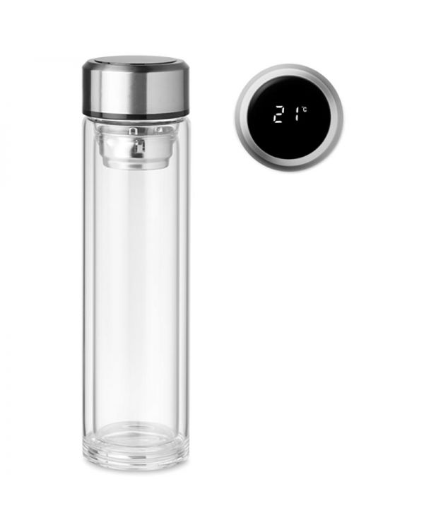Pole Glass Bottle With Touch Thermometer