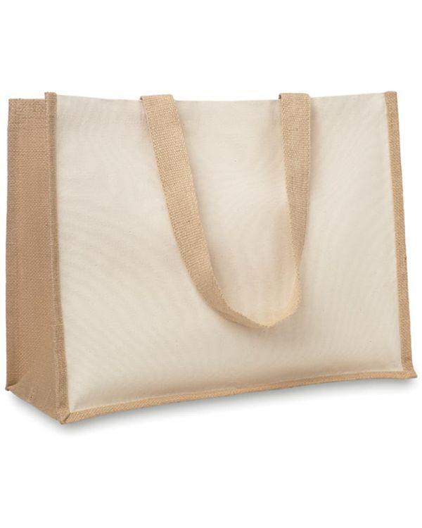 Campo De Fiori Jute And Canvas Shopping Bag