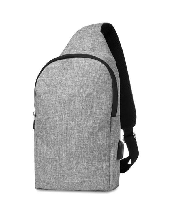 Momo 600D 2 Tone Polyester Chest Bag