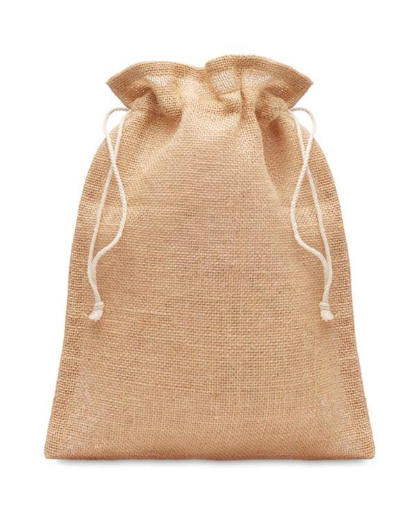 Jute Small Jute Gift Bag 14 X 22 cm