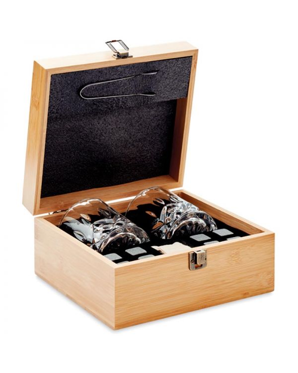 Inverness Whisky Set In Bamboo Box