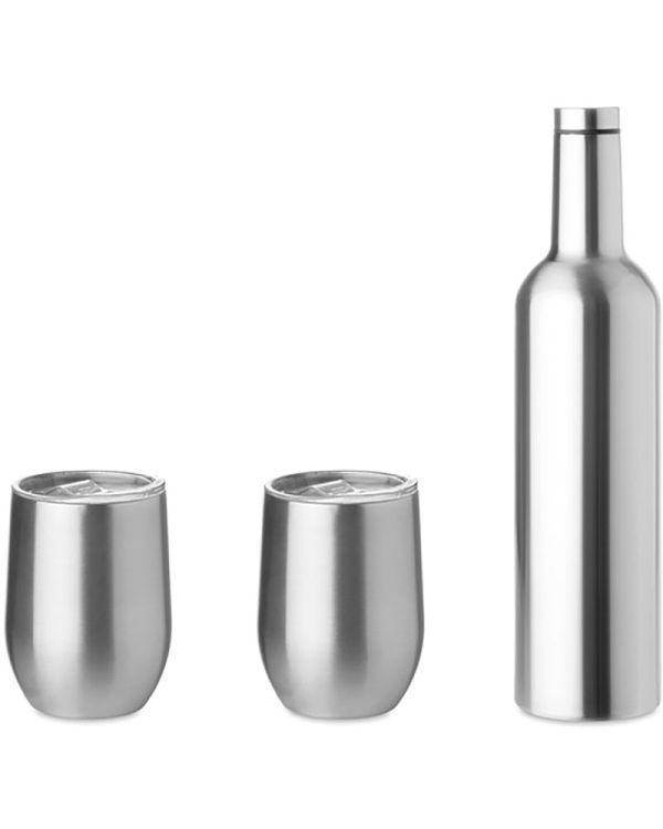 Chin Set Double Walled Bottle & Mug Set
