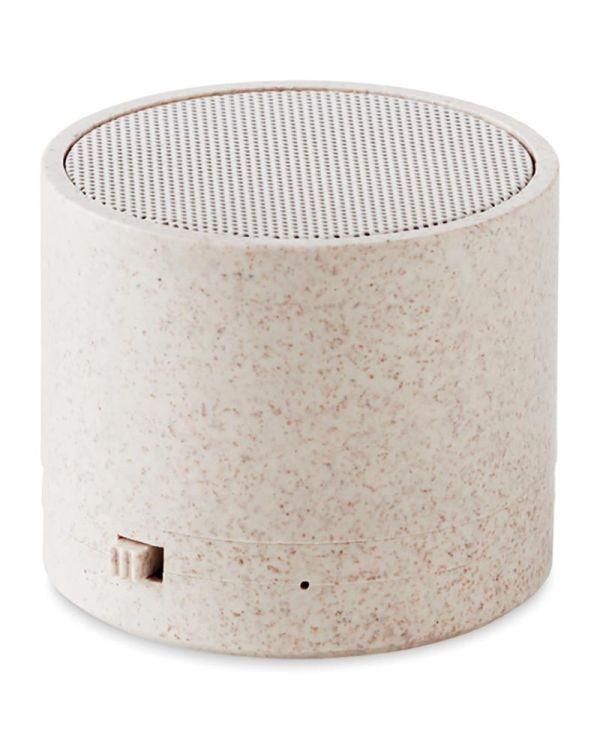 Round Bass+ 3W Speaker In Wheat Straw/ABS