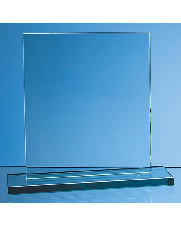 20cm x 17.5cm x 12mm Jade Glass Rectangle Award