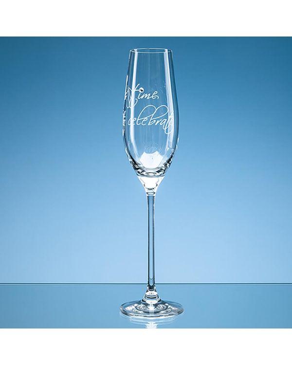 210ml 'It's time to celebrate' Diamante Champagne Flute