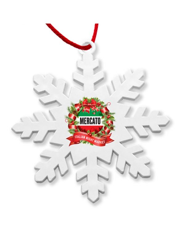 Recycled Snowflake Christmas Tree Decoration