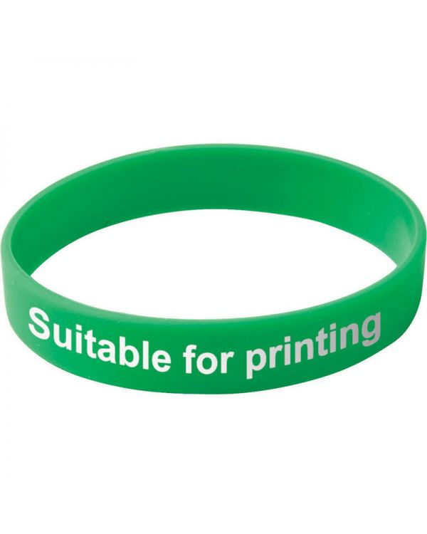 Adult Silicone Wristband (UK Stock: Available in Red Blue Green or Yellow)