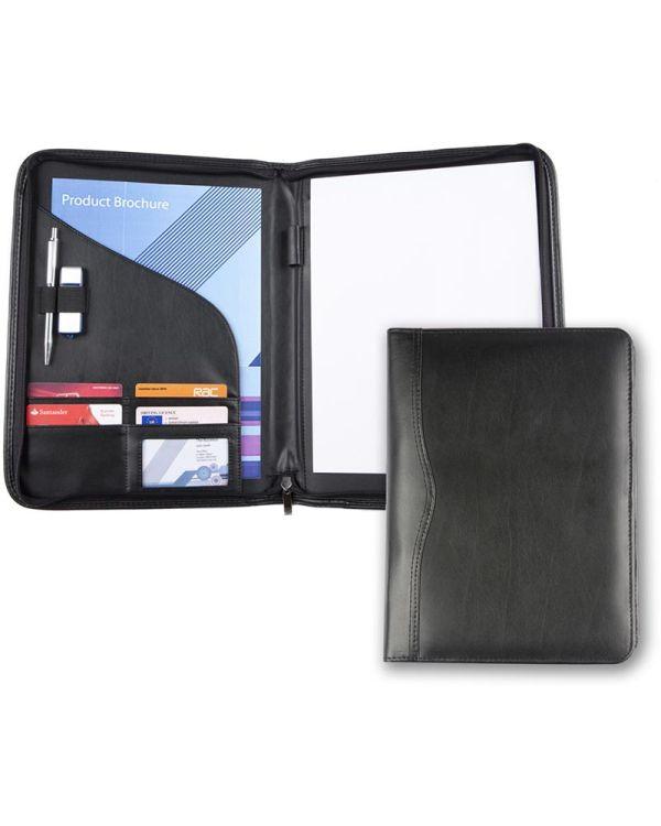 Brampton Leather A4 Zipped Conference Folder