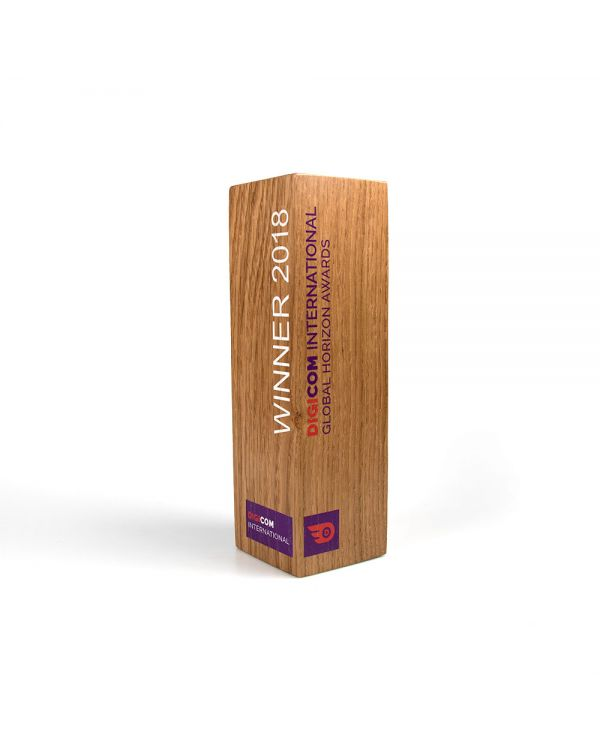 Small real wood column awards
