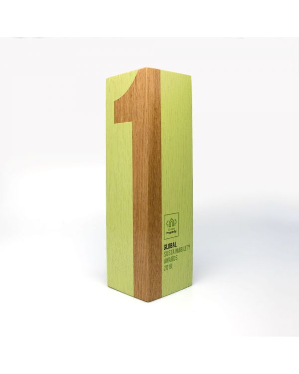 Medium real wood column awards