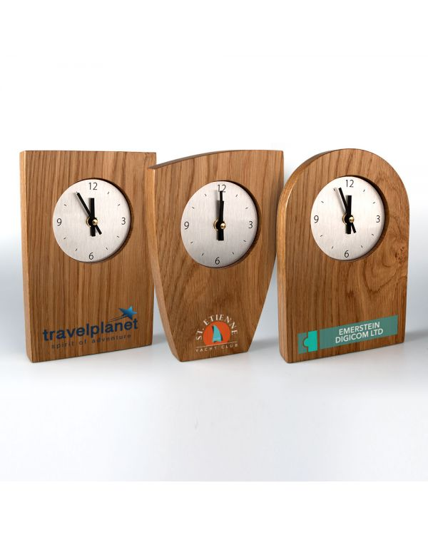 Real wood clocks