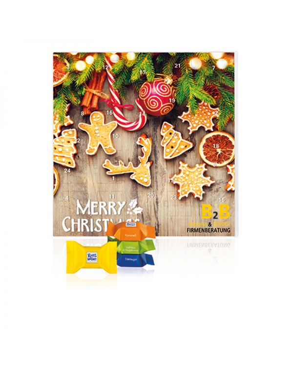 Square Advent Calendar with Ritter Sport Chocolate Cubes