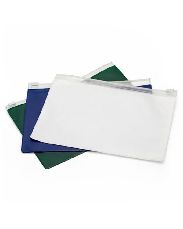PVC Slide Zippered A5 Wallet