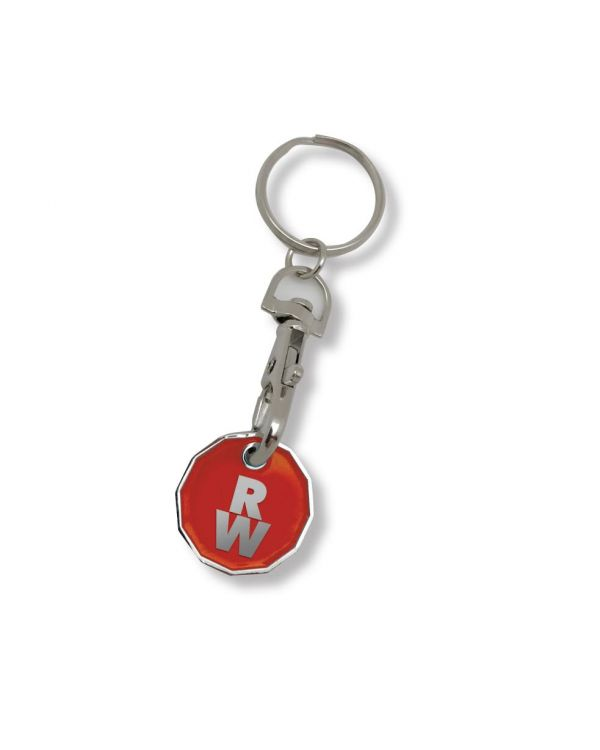 New Pound Coin Trolley Keyring